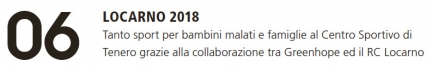 Rivista Rotary 06/18 - Progetto Locarno 2018
